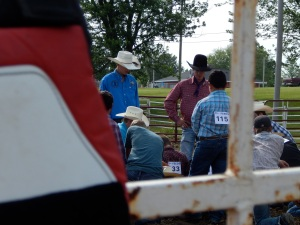 Jake and Chase talking to the Bullriders