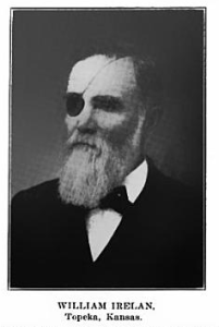 William Irelan with his eye patch from a bullet at Missionary Ridge.  Founder of Central Park Christian Church and Central Avenue Christian Church (now Northland)